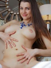 """Pretty girl Pandora B gives herself to you in white stockings in """"Alardy"""""""