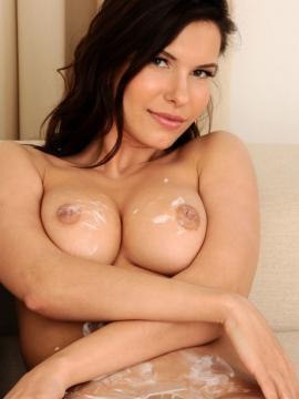 """Busty model Suzanna A stripping out of her white dress in """"Mizona"""""""