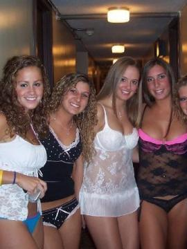 Pics of hot college girlfriends going wild in the dorm