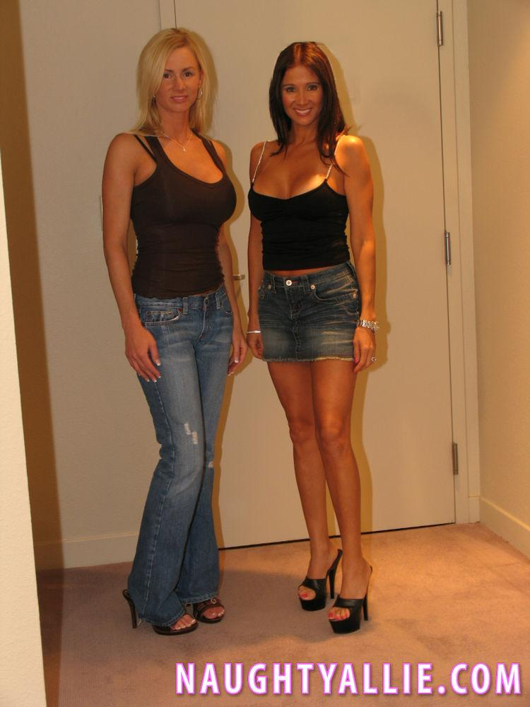 Naughty Allie gets together with her friend Rio for some ...