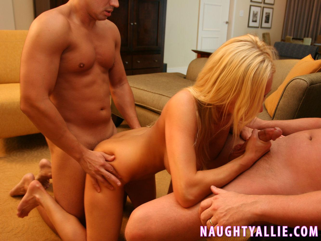Naughty allie and taylor and threesome and video about