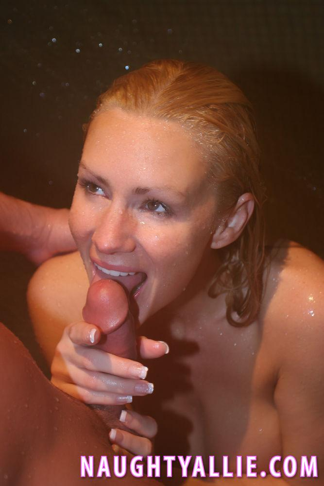 image Blonde naughty and fake tits riding dildo