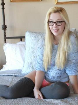 Naughty girl next door Samantha Rone plays with her favorite vibrator