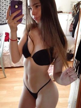 Hot babes take selfies of their non-nude bodies