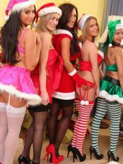 Charley S and her friends get naughty for christmas