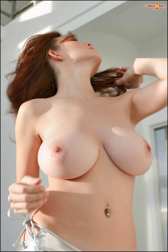 Busty Redhead Beauty Danielle Riley Shows Off Her Big -9697