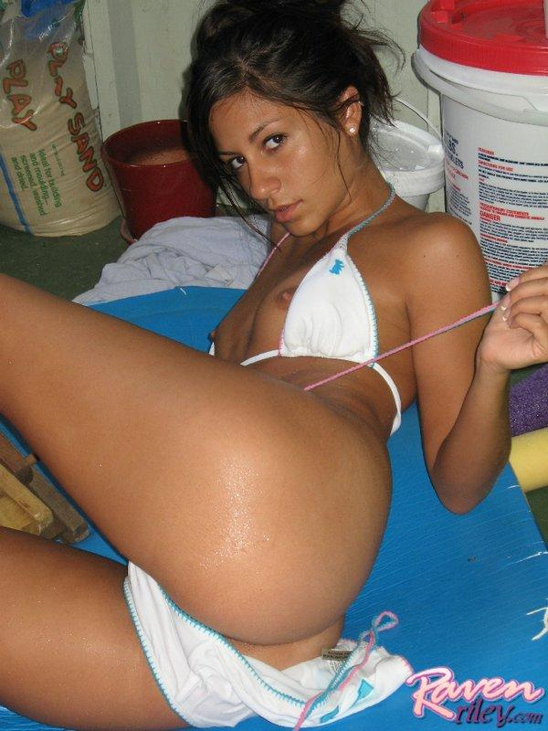 Raven riley hardcore outside