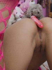Pictures of teen amateur Raven Riley toying her pussy