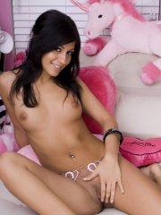 Pictures of Raven Riley playing with her pussy