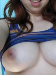 Busty brunette coed shares selfies of her hot body