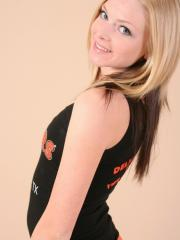 Cute teen Skye teases in her tight little hooters outfit