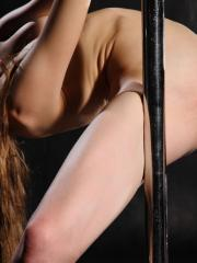 """Beautiful ballerina Annett A goes from the ballet to the pole in """"Pylon"""""""