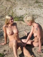 Anika and Franziska enjoy some naked fun in the sun