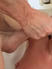 Petite girl Kylie Kalvetti gets stuffed by a huge cock