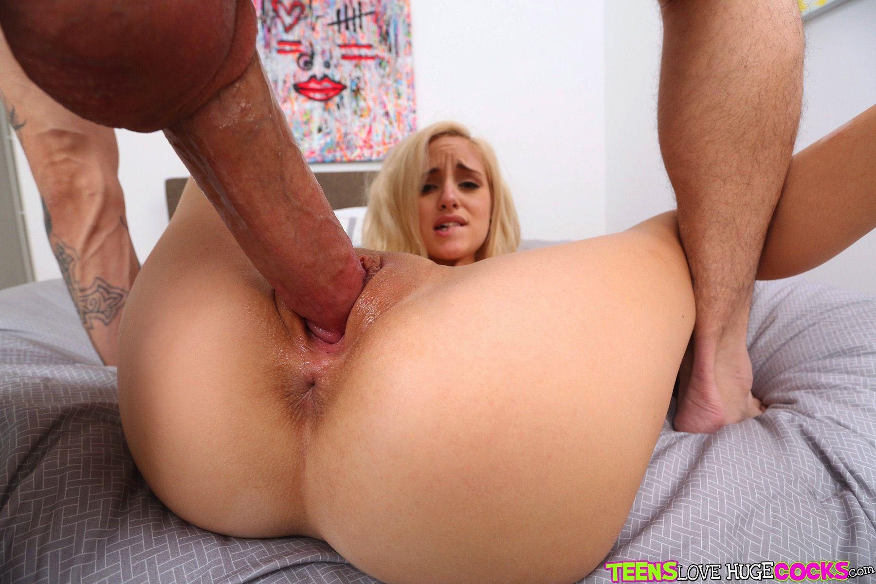 Giant cock fucking tight pussy