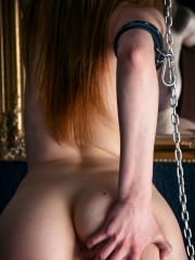 """Brunette babe Marlyn pleasures herself with chains in """"Shackled"""""""