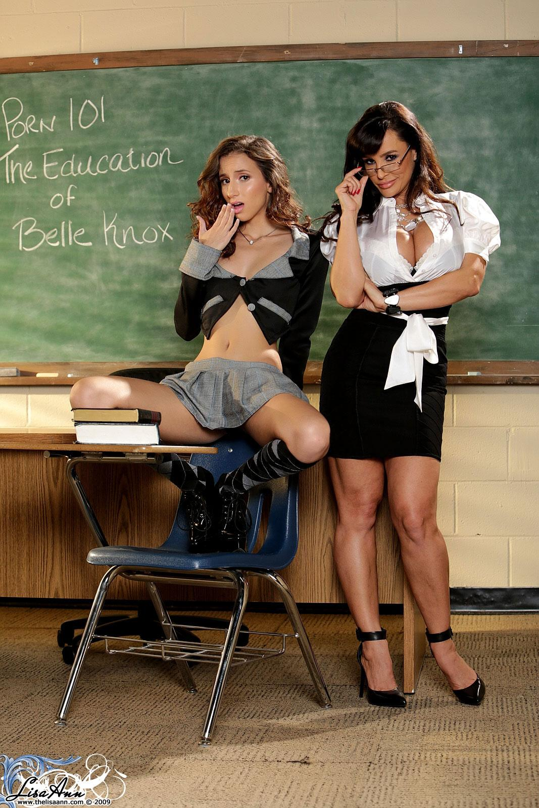 Horny schoolgirl Belle Knox gets a lesson from teacher ...
