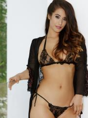 Eva Lovia strips off her lingerie to show you her sweet tight pussy