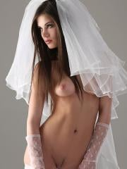 Pictures of Little Caprice ready to get naughty on her wedding day