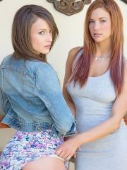 Pictures of Malena Morgan and Jayden Cole enjoying some hot lesbian sex