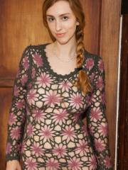 Hot model Phoebe Keller teases in her loose knit dress