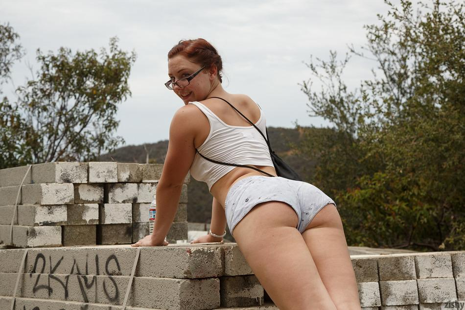 Teen Redhead Teases With Her 47