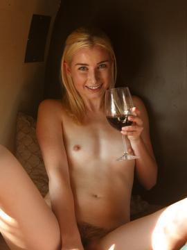 """Morgan Attwood drinks wine naked in """"Vine Humpers Part 2"""""""